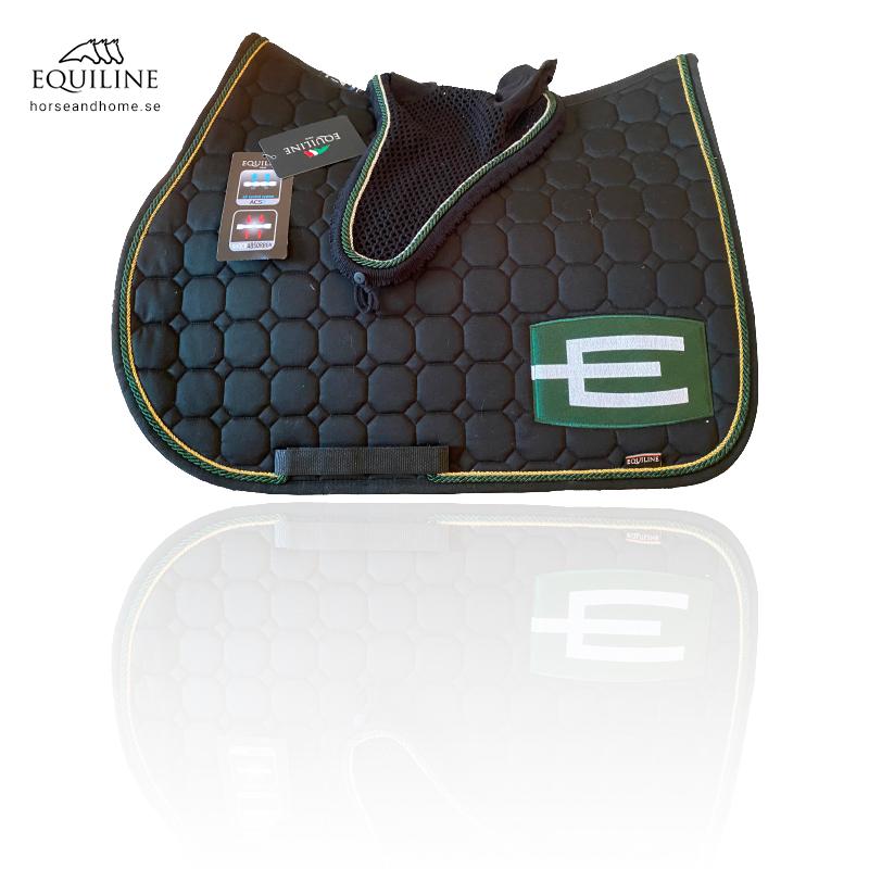 Equiline E-logga schabrak guld/grön passpoal