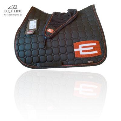 Equiline E-logga schabrak brons/glittersvart passpoal