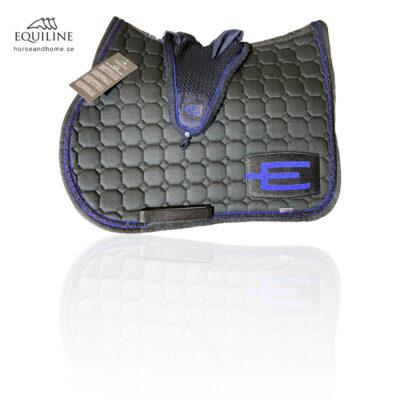 Equiline E-logga schabrak glitterblå, glittersvart & glitterblå passpoal