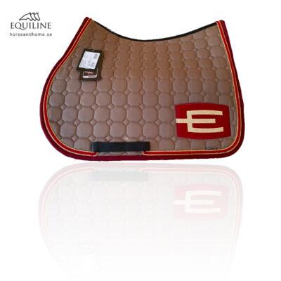 Equiline E-logga schabrak guld/röd/guld passpoal