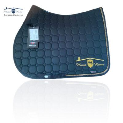 Equiline schabrak svart/guld passpoal + swarovski