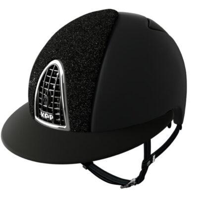 KEP textile svart glitterfront silverram